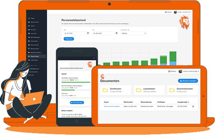 HRM-software via DURF Company. Personeelsgegevens van jouw medewerkers worden veilig bewerkt en beheerd met één softwarepakket in een digitale omgeving. Zo heb jij 24/7 inzicht en up-to-date overzicht van alle relevante gegevens.  Medewerkers krijgen toegang tot hun eigen personeelsdossier voor het doen van verlofaanvragen en ziek- en betermelding. Een schaalbaar online HR-systeem met vele mogelijkheden, naar eigen wens in te richten.